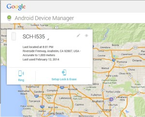 web browser view android device manager map from PC